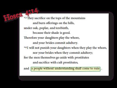 Hosea 4 13